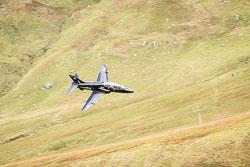 RAF BAe Hawk T1 at Wales, Lowfly, Cad East, Gwynedd, September 2018. Photo: Neil Houltby