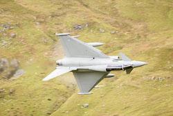 RAF Eurofighter Typhoon at Wales, Lowfly, Cad East, Gwynedd, September 2018. Photo: Neil Houltby