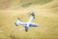 USAF Bell Boeing V-22 Osprey at Wales, Lowfly, Cad East, Gwynedd, September 2018. Photo: Neil Houltby