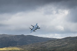 USAF Boeing F-15c at Wales, Lowfly, Cad East, Gwynedd, September 2018. Photo: Neil Houltby
