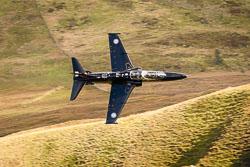 RAF BAe Hawk T2 at Wales, Lowfly, Cad East, Gwynedd, September 2018. Photo: Neil Houltby