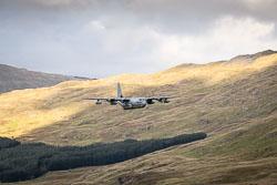 USMC Lockheed C-130J Hercules at Wales, Lowfly, Cad East, Gwynedd, September 2018. Photo: Neil Houltby