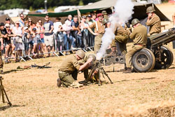 US Army Light Mortar at WWII Reenactment, Baston in the Blitz, Baston, Lincolnshire, August 2018. Photo: Neil Houltby