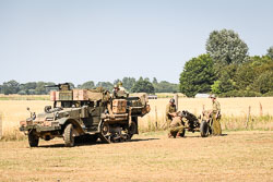 US Army M21 Motar Motor Carriage at WWII Battle Reenactment, Baston in the Blitz, Baston, Lincolnshire, August 2018. Photo: Neil Houltby