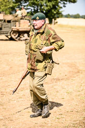 British Commando at WWII Battle Reenactment, Baston in the Blitz, Baston, Lincolnshire, August 2018. Photo: Neil Houltby