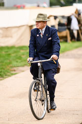 Civilian at WWII Reenactment, Ramsey 1940's Weekend, Ramsey, Cambridgeshire, August 2018. Photo: Neil Houltby