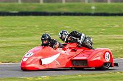Phil Larder & Ken Edwards, Sidecar, NG, Cadwell Park, 2011