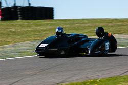 Sam Ryder & Stuart Moore, Open Sidecar, Derby Phoenix, Cadwell Park, 2011