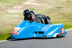 John Chandler & Doug Chandler, Open Sidecar, Derby Phoenix, Cadwell Park, 2011