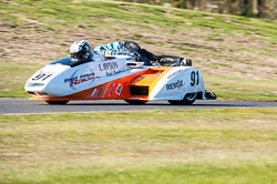 Liam Abbot & Phil Knapton, Open Sidecar, Derby Phoenix, Cadwell Park, 2011
