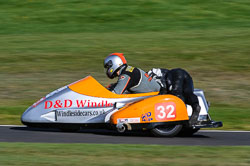 Tim Antill & Jim Stonier, F2 Sidecars, Derby Phoenix, Cadwell Park, September 2011