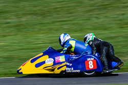David Quirk & Robert Lunt, Sidecar, NG, Cadwell Park, 2013