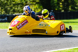 Ewan Walker & Peter Burgess, Open Sidecar, Derby Phoenix, Cadwell Park, May 2013