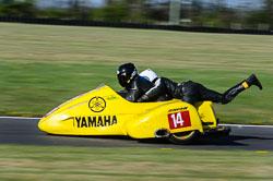Doug Chandler & Dean Kilkenny, Open Sidecar, Derby Phoenix, Cadwell Park, May 2013