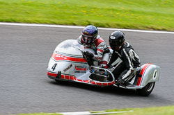 Brian Gray & Vicky Cooke, Classic Sidecars, CRMC, Cadwell Park