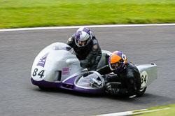 Tim Chapman & Nick George, Classic Sidecars, CRMC, Cadwell Park
