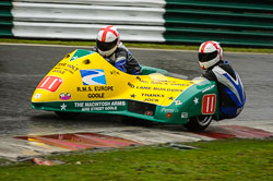 Brian Alflatt and Aaron Gorman at Auto66, Cadwell Park, Lincolnshire, April 2018. Photo: Neil Houltby