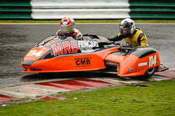 Mark Burns and Steven Winfrow at Auto66, Cadwell Park, Lincolnshire, April 2018. Photo: Neil Houltby