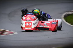Nigel Smith and Chris McGahan at Auto66, Cadwell Park, Lincolnshire, April 2018. Photo: Neil Houltby