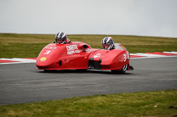 Sam Christie and Adam Christie at Auto66, Cadwell Park, Lincolnshire, April 2018. Photo: Neil Houltby