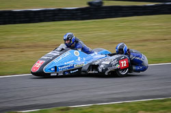 Peter Founds and Jevan Walmsley at Auto66, Cadwell Park, Lincolnshire, April 2018. Photo: Neil Houltby