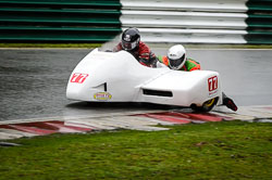 Gary Horsepole and Robert Biggs at Auto66, Cadwell Park, Lincolnshire, April 2018. Photo: Neil Houltby
