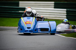 Paul Downes and David Hainsworth at MRO, Cadwell Park, Lincolnshire, April 2018. Photo: Neil Houltby