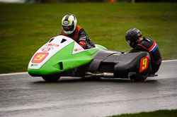 Myles Simmons and Tom Pugh at MRO, Cadwell Park, Lincolnshire, April 2018. Photo: Neil Houltby