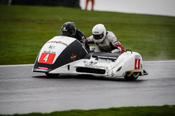Wayne Lockey and Kenny Cole at MRO, Cadwell Park, Lincolnshire, April 2018. Photo: Neil Houltby