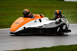 Gary Petts and Kieron Phillips at MRO, Cadwell Park, Lincolnshire, April 2018. Photo: Neil Houltby
