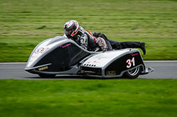 Bruce Munro and Bonita Gray at MRO, Cadwell Park, Lincolnshire, April 2018. Photo: Neil Houltby