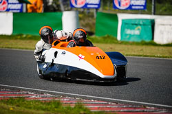 Gary Pettis and Kieron Phillips at EMRA, Mallory Park, Leicestershire, May 2018. Photo: Neil Houltby