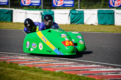 Andy Wilby and Paul Lowther at EMRA, Mallory Park, Leicestershire, May 2018. Photo: Neil Houltby