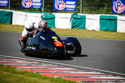 Charlie Morphet and Paul Halliburton at EMRA, Mallory Park, Leicestershire, May 2018. Photo: Neil Houltby