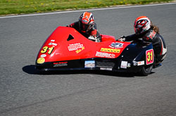 Nicholas Dukes and William Moralee at EMRA, Mallory Park, Leicestershire, May 2018. Photo: Neil Houltby