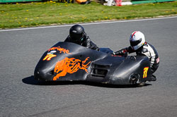 Chris Schofield and Lee Edwards at EMRA, Mallory Park, Leicestershire, May 2018. Photo: Neil Houltby