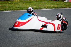 Conrad Harrison and Andy Winkle at EMRA, Mallory Park, Leicestershire, May 2018. Photo: Neil Houltby