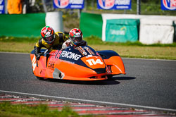 Mark Burns and Steven Renfrew at EMRA, Mallory Park, Leicestershire, May 2018. Photo: Neil Houltby