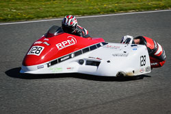 Simon Horton and Adam Buxton at EMRA, Mallory Park, Leicestershire, May 2018. Photo: Neil Houltby
