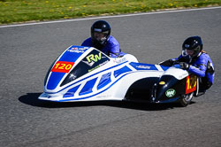 Andy Thomas and Joe Clemments at EMRA, Mallory Park, Leicestershire, May 2018. Photo: Neil Houltby