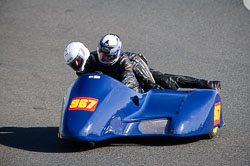 Gerald Hodgson and Daniel Hodgson at EMRA, Mallory Park, Leicestershire, May 2018. Photo: Neil Houltby