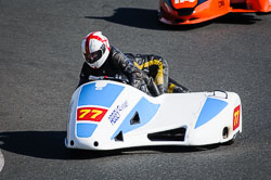 Steve Brooks and Amanda Mills at EMRA, Mallory Park, Leicestershire, May 2018. Photo: Neil Houltby