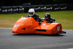 Wil Smith and Stephen Sanderson at Auto66, Cadwell Park, Lincolnshire, July 2018. Photo: Neil Houltby