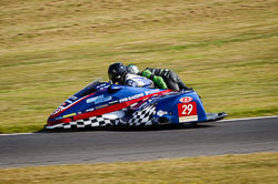 Daryl Gibson and Tom Christie at Auto66, Cadwell Park, Lincolnshire, July 2018. Photo: Neil Houltby