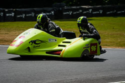 Ian Sutcliffe and Robert Bryant at Auto66, Cadwell Park, Lincolnshire, July 2018. Photo: Neil Houltby