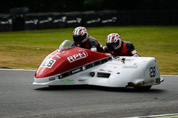 Simon Horton and Adam Buxton at Auto66, Cadwell Park, Lincolnshire, July 2018. Photo: Neil Houltby