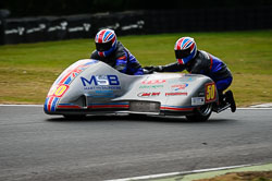Jody Sims and Reece Sims at Auto66, Cadwell Park, Lincolnshire, July 2018. Photo: Neil Houltby