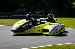Martin Kirk and Shelley Smithies at International Sidecar Revival, Cadwell Park, Lincolnshire, June 2018. Photo: Neil Houltby