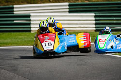 Phil Bell and Stuart Ramsey at International Sidecar Revival, Cadwell Park, Lincolnshire, June 2018. Photo: Neil Houltby