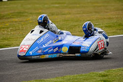 Pete Founds and Jevan Walmsley at International Sidecar Revival, Cadwell Park, Lincolnshire, June 2018. Photo: Neil Houltby